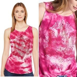 Lucky Brand stamp Tie Dye Tank Top